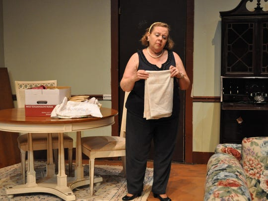 """Tina Smith rehearses the City Park Players' production of """"Clybourne Park."""""""