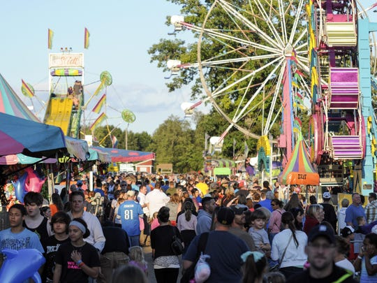 The Midway at the Calhoun County Fairgrounds.