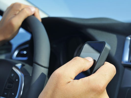 texting driving stock