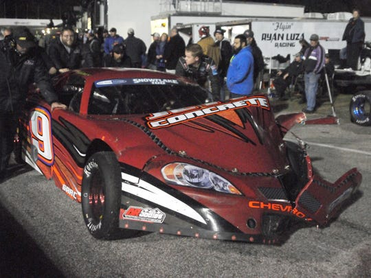 Derek Thorn was involved in a wreck during the Snowflake 100.