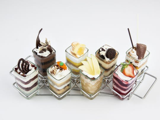 The Tastes of Bistro menu offers mix-and-match mini parfaits in 10 flavors.