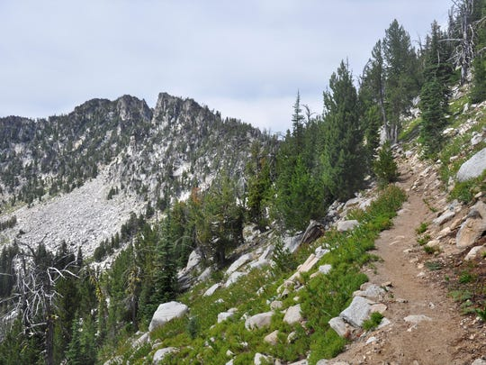 Angell Pass south of Anthony Lake has beautiful views.
