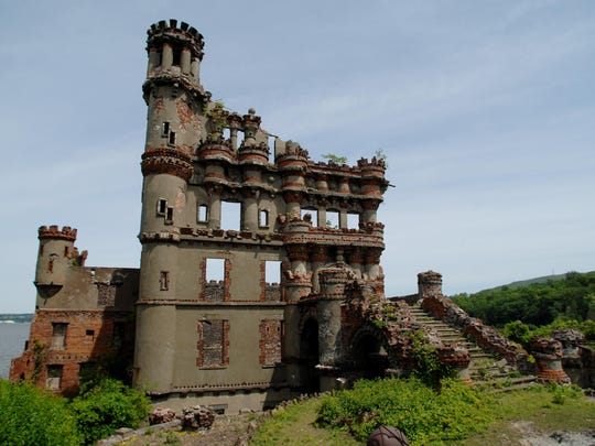 The castle at Bannerman Island-Hudson Highlands State Park sits on the north side of Pollepel Island in the Hudson River.
