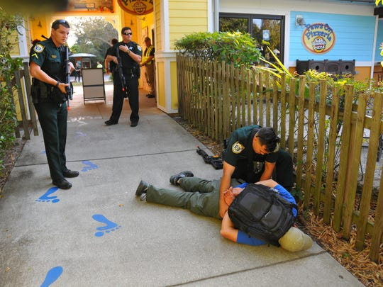 "The Brevard Zoo closed at 2:30 for an active shooter training drill with the BCSO and Brevard County Fire and Rescue. Training officer Corp. Jason Holloman was the active shooter, ""killing"" and Injuring numerous zoo employees and wounding a deputy before being stopped."