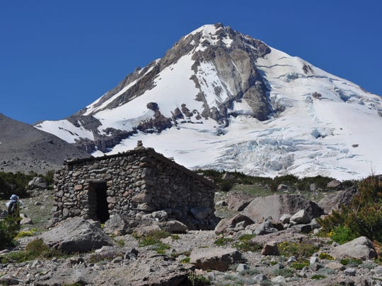 After hiking the new 0.8-mile trail segment from Cloud Cap to the Eliot Branch, you might also hike 1.3 miles the other way on the Timberline Trail from the trailhead to see the Cooper Spur shelter.