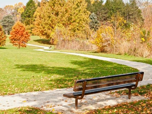 Beautiful Autumn park in Pennsylvania