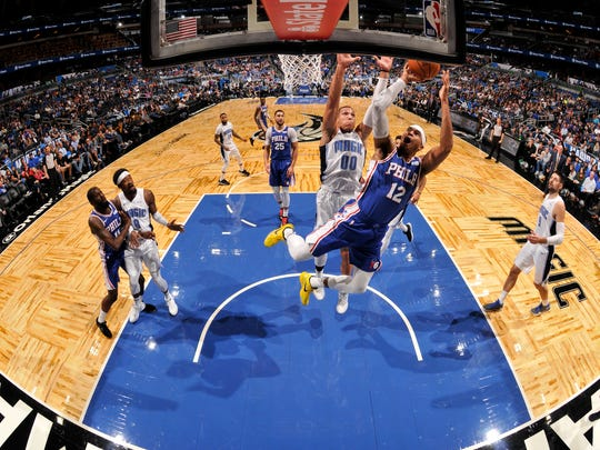 Philadelphia 76ers and the Orlando Magic play in November at the Magic's  home court, the Amway Center