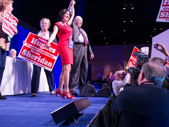 Candidates get their moment on stage at the 2015 Michigan Republican State Convention Saturday.