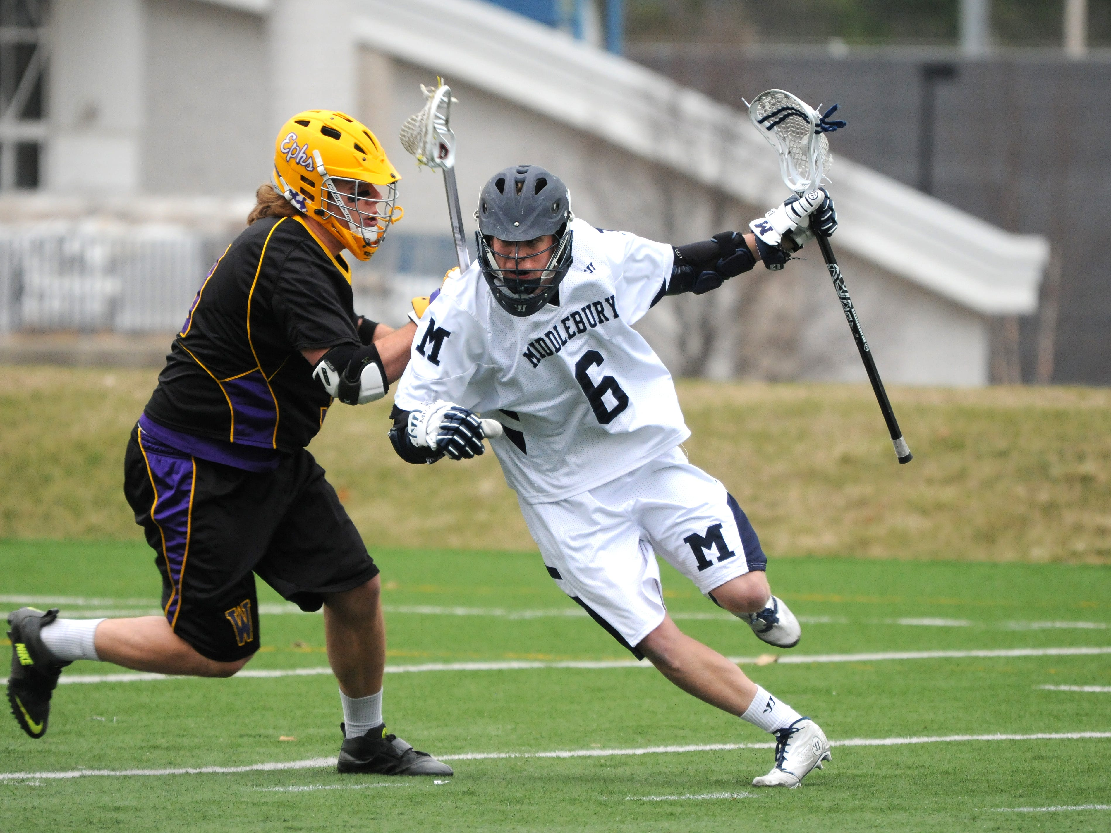 Middlebury junior attack Jon Broome, a Mountain Lakes graduate, scored his 100th career goal on Wednesday.