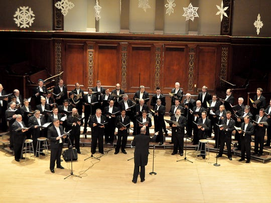 The Rochester Gay Men's Chorus at its holiday concert in December at Hochstein Performance Hall.