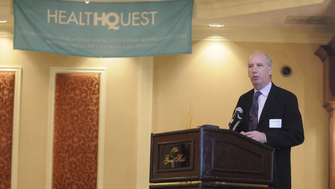 Robert Friedberg, president of Vassar Brothers Medical Center and executive vice president of Health Quest, speaks at the annual breakfast of the Dutchess County Economic Development Corp.