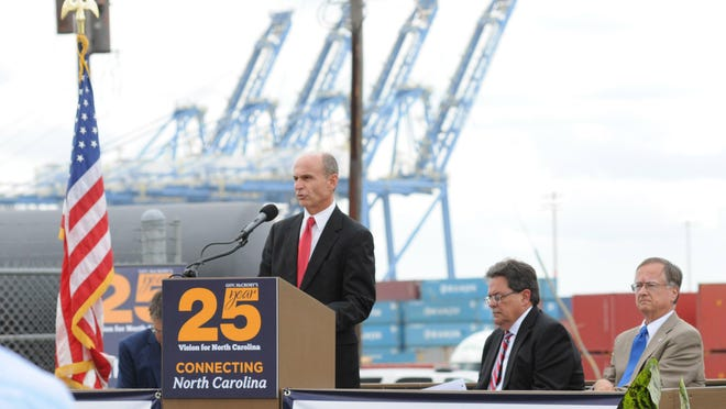 Paul Cozza, executive director of the N.C. State Ports Authority, shown here at the Port of Wilmington in July 2016, will step down at the end of 2020.