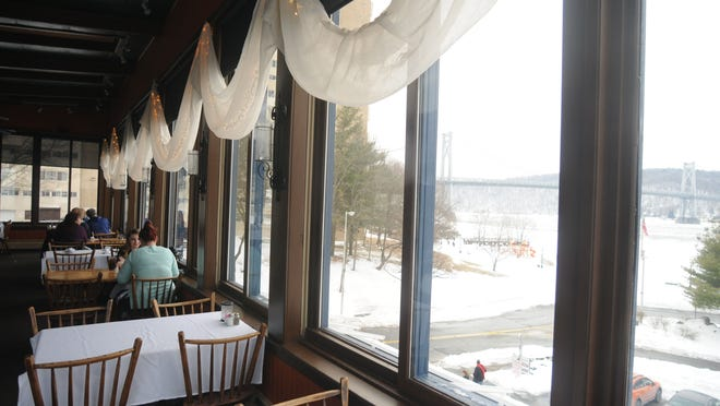 A highlight of the River Station Restaurant is the view of the Mid-Hudson Bridge and the Walkway Over the Hudson from the second floor.