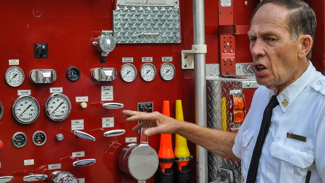 Park Ridge Fire Chief Ron Slicer talks about the need to replace the village's fire truck.
