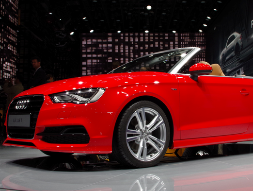 The new Audi A3 Cabriolet with high style and more high tech -- including WiFi -- at its unveiling last September at the Frankfurt Auto Show.