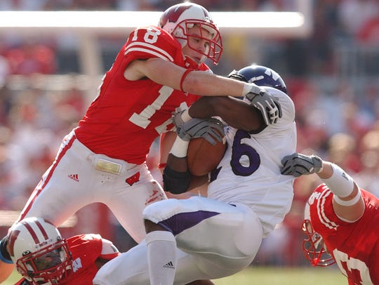 Current UW defensive coordinator Jim Leonhard played for the Badgers from 2001-'04.