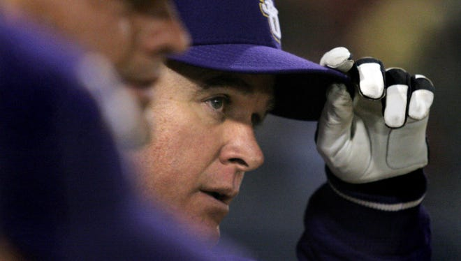 LSU coach Paul Mainieri's Tigers lost at Lamar on Wednesday.