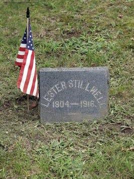 Lester Stillwell's grave in Matawan's Rose Hill Cemetery.