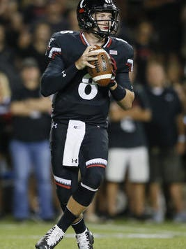 Hayden Moore has returned to start at quarterback for the Cincinnati Bearcats, after missing two games with an ankle injury.