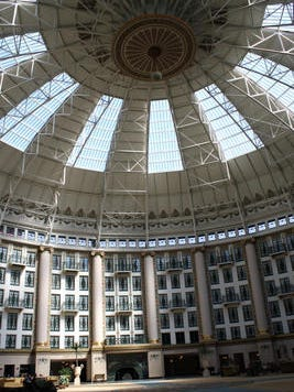 The West Baden Springs Hotel was the largest self-supporting domed structure in the country when built in 1901.