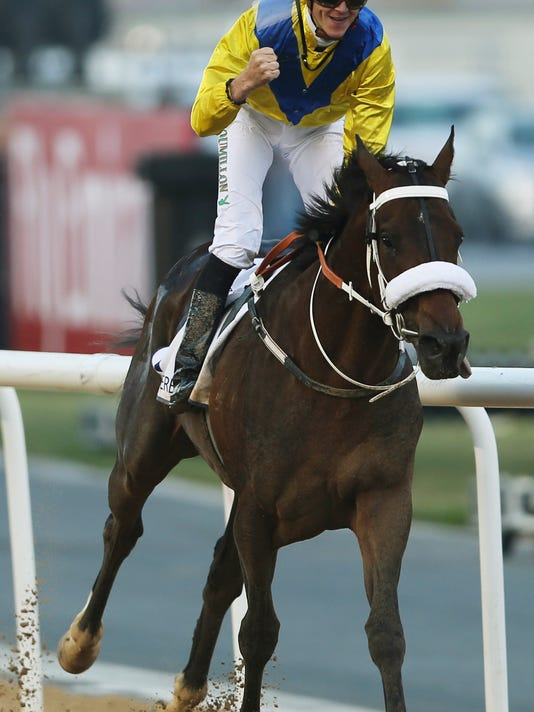 Mideast Emirates World Cup Horse Racing
