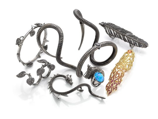 "Crow's Nest Jewels has joined forces with Walt Disney Pictures to create an exclusive limited edition collection for it's upcoming 2014 blockbuster, ""Maleficient,"" starring Angelina Jolie. (Disney Consumer Products/Los Angeles Times/MCT)"