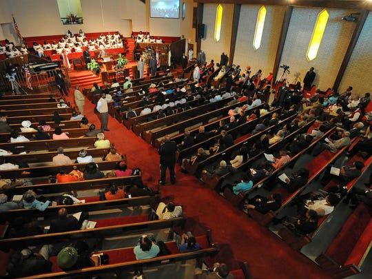Shreveport's Galilee Baptist Church Remembering 9/11 service 9-14-14.  Stan Carpenter/The Times