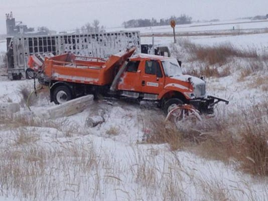 DOT snowplows involved in 15 accidents this week