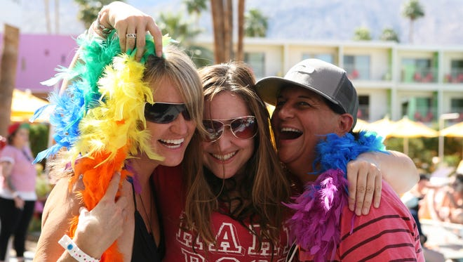 04/06/14 Scenes from the retro pool party of Dinah Shore Weekend at the Saguaro in Palm Springs on Sunday, April 6th, 2014.