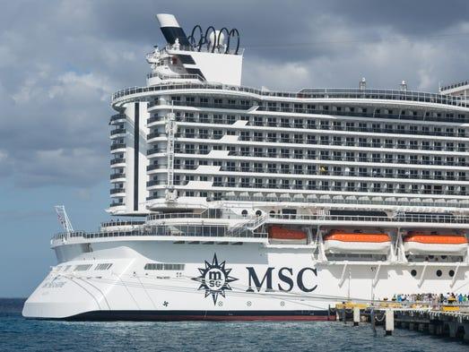 MSC Seaside Inside The Giant New MSC Cruises Ship That Is Turning - Cruise ship turns over