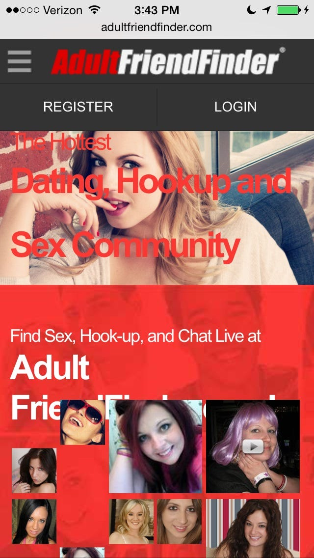 Adult friend finder sex personals online