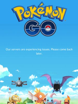 Many frustrated Pokemon Go players saw this screen.