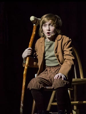 "Carson Spaeny, 12, plays Tiny Tim in Silver Dollar City's production of ""A Christmas Carol."" He recently started a fundraiser to help children injured in a Nov. 5, 2017 mass shooting at a church in Sutherland Springs, Texas."