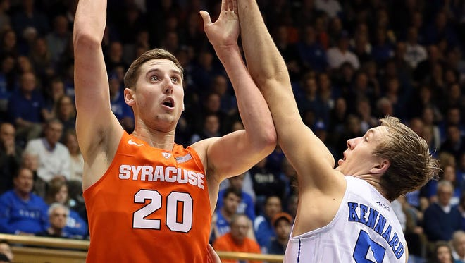 Tyler Lydon averaged 13.2 points and 8.6 rebounds for the Orange last season as a sophomore forward/center.