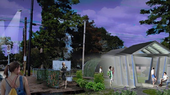 This rendering by Hector LaSala depicts what the pavilion at the Victory Garden could bring to the LaPlace neighborhood.