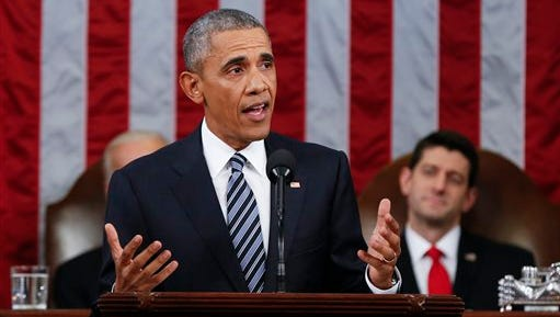President Barack Obama delivers his State of the Union address on Tuesday.