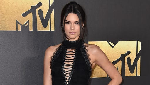 FILE - In this April 9, 2016 file photo, Kendall Jenner arrives at the MTV Movie Awards in Burbank, Calif. A Los Angeles judge on Thursday, Nov. 10, sentenced 26-year-old Shavaughn McKenzie to time served in a Los Angeles after he was convicted last month of trespassing at the Jenner's home earlier this year.