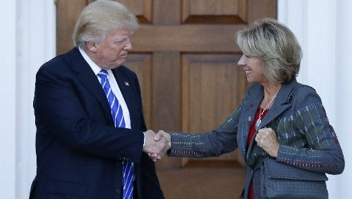 Betsy DeVos is the selection for Secretary of Education by President-elect Donald Trump