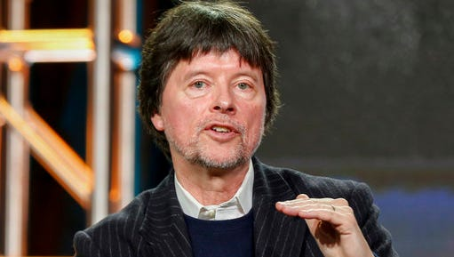 "FILe - In this Jan. 15, 2017 file photo, Ken Burns speaks at the PBS's ""The Vietnam War"" panel at the 2017 Television Critics Association press tour in Pasadena, Calif. Burns announced Tuesday, March 27, 2017, that he and two partners will make a two-part, four-hour film about the former heavyweight champ"