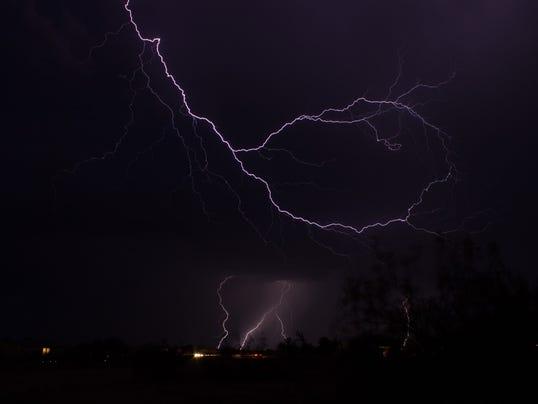 Wittmann area lightning from @makingitlookeas
