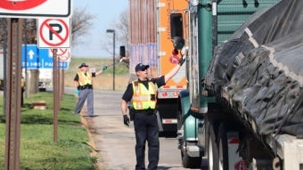 Members of the Nebraska State Patrol provided 95,000 masks to truck drivers on April 29 and 30.