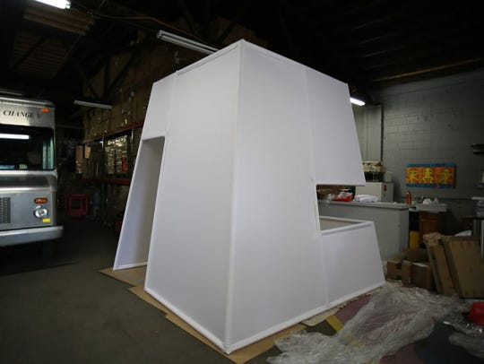 The exterior of the Safe Shape, a mock injection site