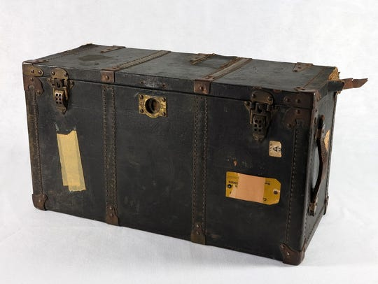 In her youth, Betty Ford used this trunk to transport