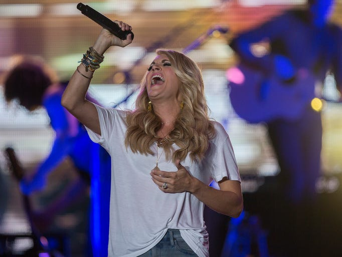 Carrie Underwood performs at the Iowa State Fair Grandstand