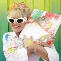 Leoma Lovegrove, a colorful impressionist painter, has applied her artistry and name to a line of Bealls casual fashions.