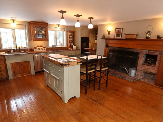 The kitchen of this historic home in Mendon includes