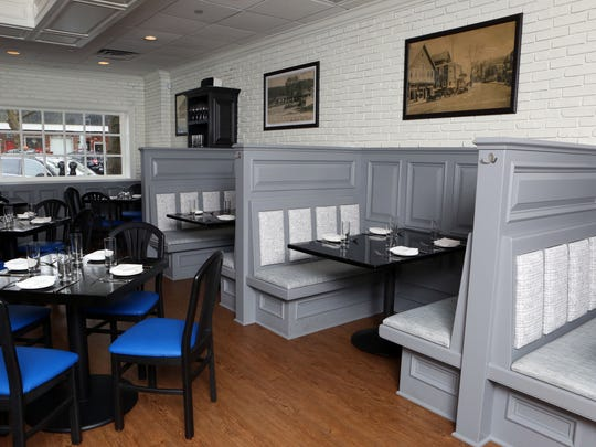 The interior of Vela Kitchen, a new American restaurant