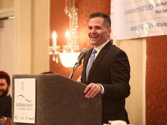 Dutchess County Executive Marc Molinaro speaks during