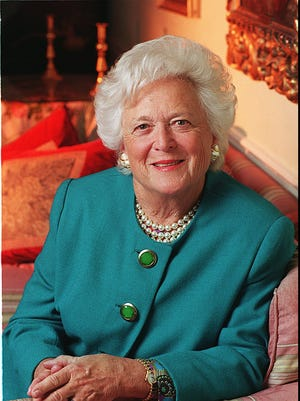 Portrait of former first lady Barbara Bush in September 1994