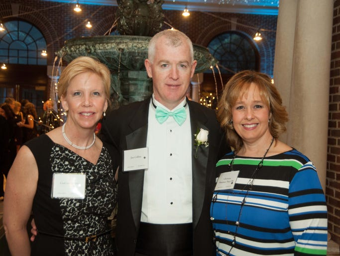 Co-chairs of the Mt. Notre Dame Grande Gala, CeeCee and Jim Collins of Loveland, and Christina Tkacz of Loveland. Not pictured, Greg Tkacz.